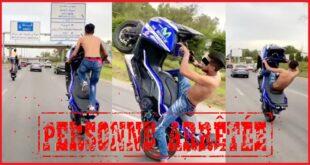 الإستعراض أثناء قيادة دراجة نارية بالطريق السيار يُطيح بشخصين في قبضة الأمن