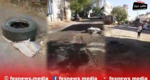 حالة كارثية لأحد الشوارع بحي صناعي بفاس